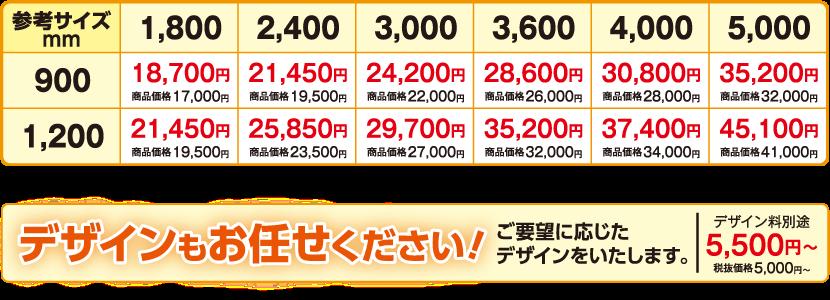 亀岡の内藤印刷の横断幕価格表