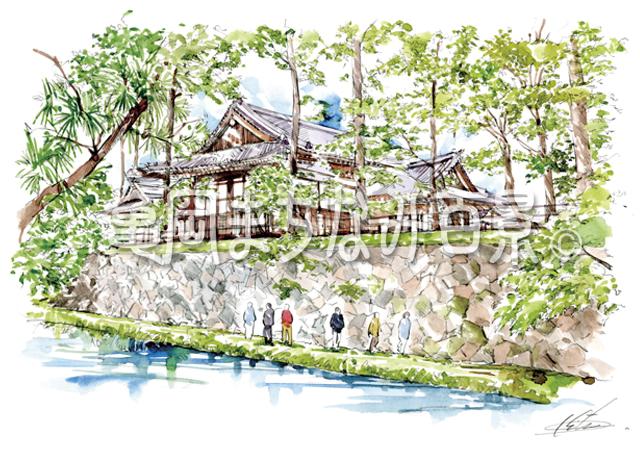 011 亀山城跡のおほもと万祥殿と万祥池