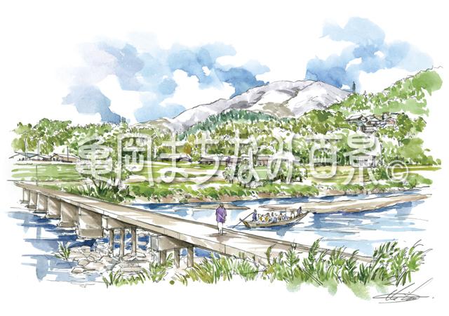 013 牛松山と沈下橋「保津小橋」