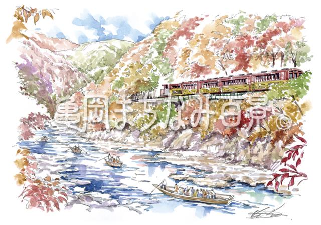 018 舟下りとトロッコで賑わう保津川渓谷