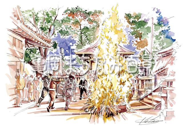 """019 """"頓宮(とんぐう)のたき火""""保津の火まつり"""