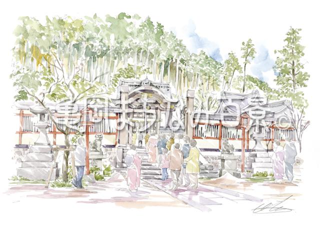 035 城下町と鍬山神社