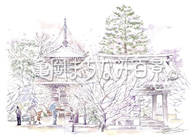 069 穴太寺 — 雪の境内 —